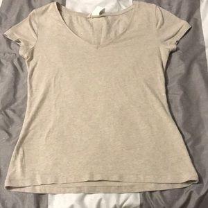 Tops - Tan U-neck T-shirt